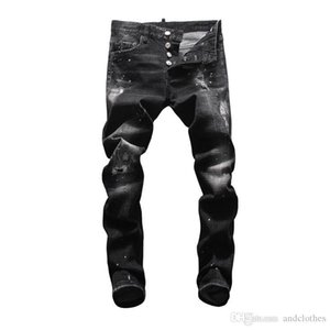 2020 Classic Slim Mens Jeans Men Clothing Fit Straight Biker Ripper Zipper Full length Men Pants Casual Pants mens slim fit jeans