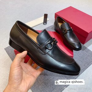 Men s luxury dress designer Casual Business Oxfords Leather shoes Outdoor Loafers box size 45