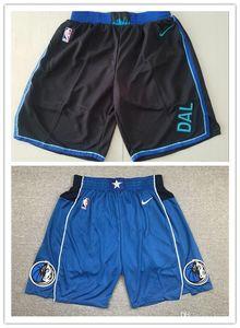 Majestic New DallasMavericks 77 Doncic 41 Nowitzki 5 Kidd Stitched Shorts Vintage Breathablenba Pants Sweatpants Classic Shorts