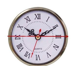 Fashion 90mm Mini Insert Clock Watch Japanese PC12888 Quartz Movement Gold Silver Plasatic UP Clock Insert Roman Numerals Clocks Accessories