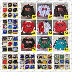 Cousu Hommes Basketball Tout Don Pocket nbaShorts Hip-hop Toutes les équipes Ville Nom Année ID Tags Mitchell Ness Sweatpants Sport Big Face