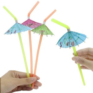 Materiali 120Pcs Umbrella monouso Bendy cannucce Per Luau Hawaii Beach Party Altra parte Event