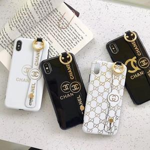Новейший телефон чехол для Iphone X XR Xs Max TPU IMD печати Wristband держатель крышки для Iphone 11 Pro Max 7 7plus 8 8plus 6 6plus