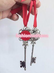 Natal santa chave disco personalizado santa's especial ornamento santa chaves verde / vermelho santa claus chave chave de decoração de natal com fitas 2019