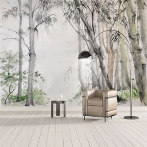 Custom Mural Wallpaper Chinese Style Hand-painted Bamboo Leaves Photo Wall Painting Living Room TV Sofa Bedroom Home Decor Mural