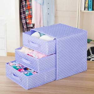 Unterwäsche-Aufbewahrungsbehälter Baumwolle und Leinen Schublade Doppel Cloth Bra Socken Startseite Finishing Box Organizer Aufbewahrungsbox