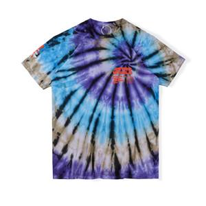 20SS Ins Hot Travis Scott Astroworld officiel Souvenir Tie Dye T Skateboard concepteur t-shirt des hommes femmes rue T-shirt décontracté