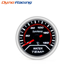 "Dynoracing Auto Water Temp Gauge 2 ""52mm lente de humo 40-150 Celsius Pointer medidor de temperatura del agua medidor de coche BX101228"