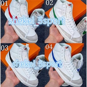 New SB Zoom Blazers Mid 77 Edge Vintage Lucid Green 1977 Womens Shoes mens designer blazers Hack Pack white midnight navy femmes BQ6806-600