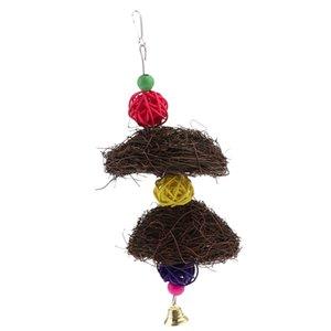 Bird Bird Hammock Swing-Spielzeug-Papageien-Chew Spielzeug Holzkäfig Perch Käfig hängende Spielzeug für Vögel Standplatz spielen