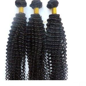 Una visón Virgen del pelo Extensiones cabello humano teje rizado rizado paquetes 100% sin procesar indio peruano de Malasia a granel de Mongolia Hai Humano