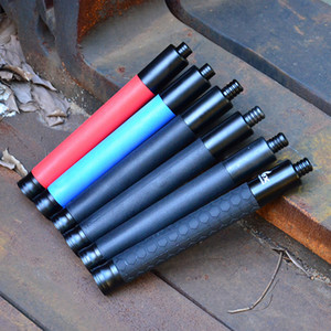 21 pulgadas Caza al aire libre Escalada Nuevo Palo de aleación estándar Mecánico Retráctil Defensivo Palo telescópico táctico de tres secciones