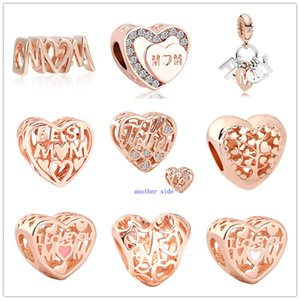 MOQ20pcs más nuevos libres del envío mejor hijo madre rosa de oro europeo amo el árbol de cuentas de bricolaje son aptos a Pandora encanto de la pulsera D078