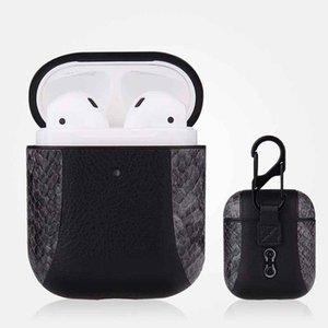 2020 AirPod cas pour 1/2 Casque d'écoute Bluetooth antichocs Cover pour AirPod Serpent Mode Patchwork Motif Boîte de rangement 7 couleurs nouveaux cas 1