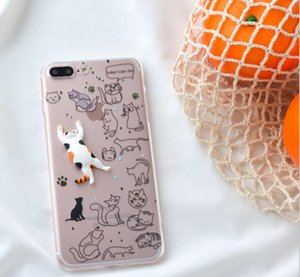 Mobile Phone Cases For Huawei P8 Lite 3D Lazy Cat Cartoon Cover Shell For iphone 6 6s 7 8 plus xs xr xmax