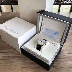 Lüks erkek marka IWC Mens Watch kutusu iç dış mans saatler kağıtları Kart cüzdan BoxesCases erkekler GMT alt kutusu ücretsiz kargo
