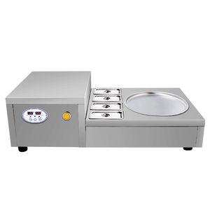 Machine de crème glacée thaïlandaise frite 110V220v machine de yaourt frit / machine de crème glacée / opération intelligente livraison gratuite