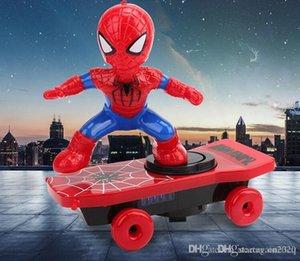 Caliente los vengadores de Spider-man colisión Stunt luminosa Scooter eléctrico de juguete de plástico y los niños de juguete educativo del regalo