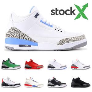 3 OVO X DRAKE zapatos de baloncesto de los deportes Jordán NakeskinJordánRetro Quai 54 Mocha Beige Chicago TRIPLEThrow Línea 3S zapatillas de atletismo