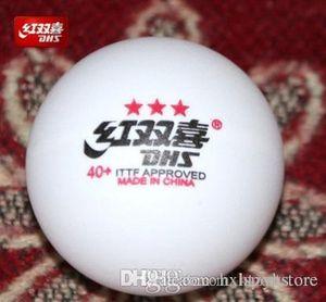 Wholesale- New 1 box DHS 3 star 40mm+ Cell free Table Tennis Balls Pingpong Balls Tenis De Mesa 82001 htzyh