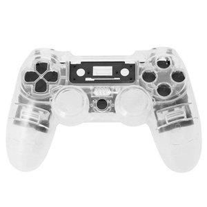 PS4 contrôleur personnalisé Transparent Plein logement Shell Gamepad Boutons de cas de remplacement Kit de protection pour Sony Playstation 4 V1