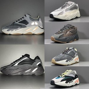 Kanye West 700 Ondas corredor Sneaker MenShoes Geode malva Magnet Inerti sal Homens Mulheres 700s Sports Basketball Sneakers com caixa