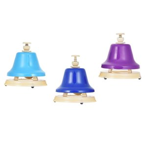 Colorful 8 Note Hand Bell Set Musical Educational Instrument Toy for Children Kids Student-MUSIC
