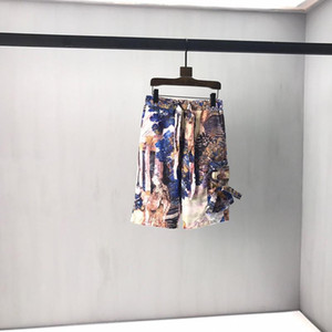 2020 Summer Spring Luxury Fashion Designer Europe Italy Oil Painting Beach Shorts Men Women Casual drawstring Streetwear Pocket Pants
