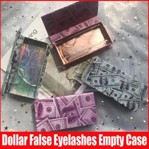 Dollar Lash-Geld Leerer Magnetic Lashes Fall 3D Mink Wimpern Boxen falsche Wimpern Verpackung Kästen ohne Lashes