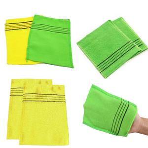 Body Scrub Shower Glove Towel Double Sided Washcloth Dead Skin Removal Fiber