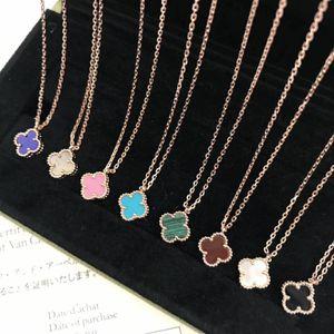 Miniblumenanhängerhalskette mit Naturstein und Oberteil für die Frauen, die Halskettenschmucksachegeschenk und Markennamen wedding sind Freies Verschiffen