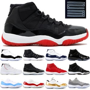 45 Platin Ton XI Erkekler Kadın Ayakkabı Spor Sneakers Boyut 5,5-13 Space Jam Concord Bred 11 11s Jampman Basketbol Ayakkabı