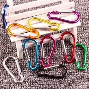 Catena moschettone portachiavi dell'anello chiave di sport esterni Snap a gancio portachiavi escursionismo alluminio dell'acciaio inossidabile del metallo Camping nave libera DHF118