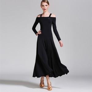 Ballroom Dance Dress Elegant Long Sleeve Stage Dancing Wear Women's Cheap Ballroom Flamenco Competition Dresses