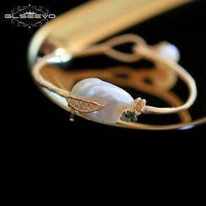 Glseevo handmade naturale d'acqua dolce della perla braccialetti per le donne bileklik braccialetto di lusso gioielleria raffinata pulsera mujer rrmband gb0107 j190718