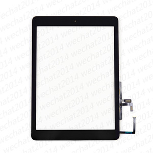 New Touch Screen Glass Panel with Digitizer Home Buttons for iPad 5 5th 2017 A1822 A1823 free DHL