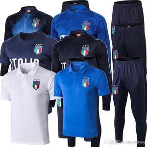 Thailand Quality New 2018 Mens Italy Jacket Training Tracksuit Mens 18 19 Italy Soccer Jacket Suit Soccer Tracksuit Sportwear