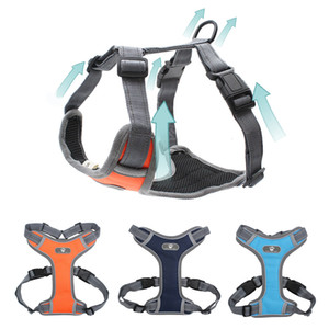 2019 New Big Dog Harness Vest Breathing Active No Pull Dog Training Harness Adjustable Reflecting Pet Dishes For Pitbull Labrador