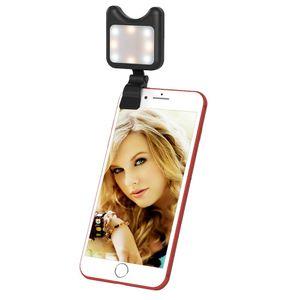 Apexel APL-FL01 LED Camera Lens Phone Universal selfie Fill Light avec clip, pour l'iPhone, Samsung, Huawei, Xiaomi, HTC et autres Smartphones