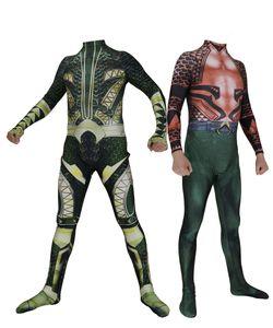Aquaman Costume De Cosplay Impression 3D Lycra Spandex Zentai Body Aquaman Costume Halloween Costume