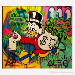 vA. Hohe Qualität Alec Monopoly Handpainted HD-Druck Abstrakte Graffiti-Pop-Straßen-Kunst-Ölgemälde auf Leinwand-Wand-Kunst Home Office Deco G111