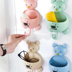 Ventosa Soap Box Banho Caixa de armazenamento de sabão criativa Banho Mouse Recados rack Hanging