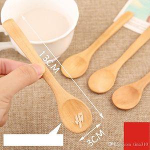 Neue Art und Weise Kreativität 3 Arten Haushalt kleinen Holzlöffel Hochwertige Suppenlöffel dauerhaft Kaffeelöffel IA813