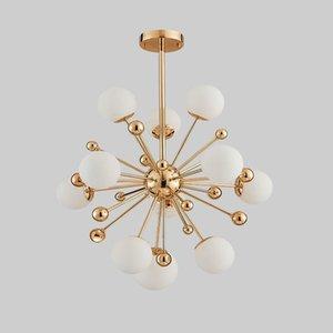 Nordic Led Dandelion Glass Ball Chandelier Ligthing Gold Pendant Light 11  12  18 Lights For Bedroom Dining Room Restaurant