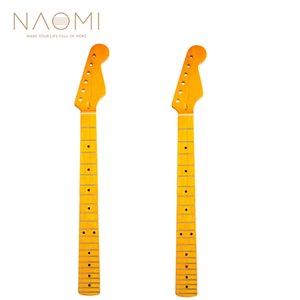 NAOMI 2 adet Boyun ST Elektrik Gitar Için Yedek Akçaağaç Ahşap Klavye 22 Fret Gitar Boyun Gitar Parçaları Aksesuarları Yeni