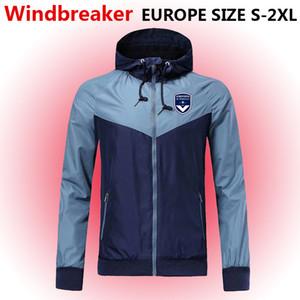 Bordeaux Windbreaker zipper jaqueta, casaco com capuz Bordeaux futebol Windbreaker Futebol Sportswear Bordeaux completo casaco com zíper jaquetas masculinas