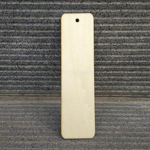 50pcs marcador madeira 32mmx 120mmx3mm em branco Plywood Bookmark Tags Adesivos frete grátis tamanho pode ser customzied