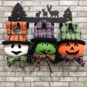 Хэллоуин Висячие двери украшения куклы тыквы Ведьма призрак куклы стены дома украшения Хэллоуин украшения Prop для вечеринок DBC VT0872
