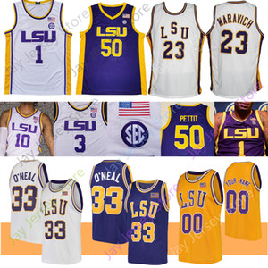 LSU Jersey Baloncesto NCAA Skylar Mays inteligente Williams Marlon Taylor Días James Bishop Watford Maravich O'Neal Bob Pettit Simmons