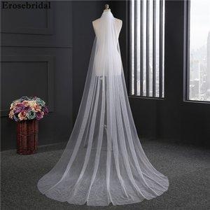 2018 Nuevo velo de novia 3 m * 1.5 m Tamaño velo de novia de marfil blanco con peine En stock 72 Horas Envío C19041101